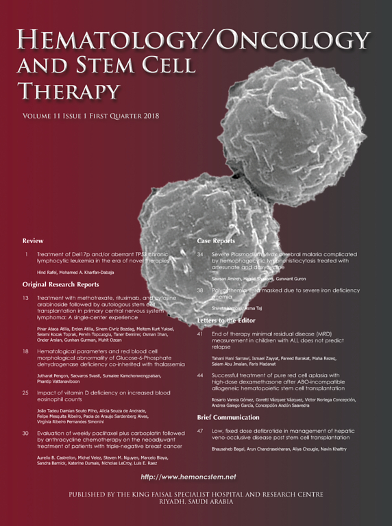 Hematology/Oncology and Stem Cell Therapy