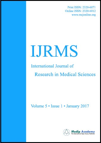 International Journal of Research in Medical Sciencies