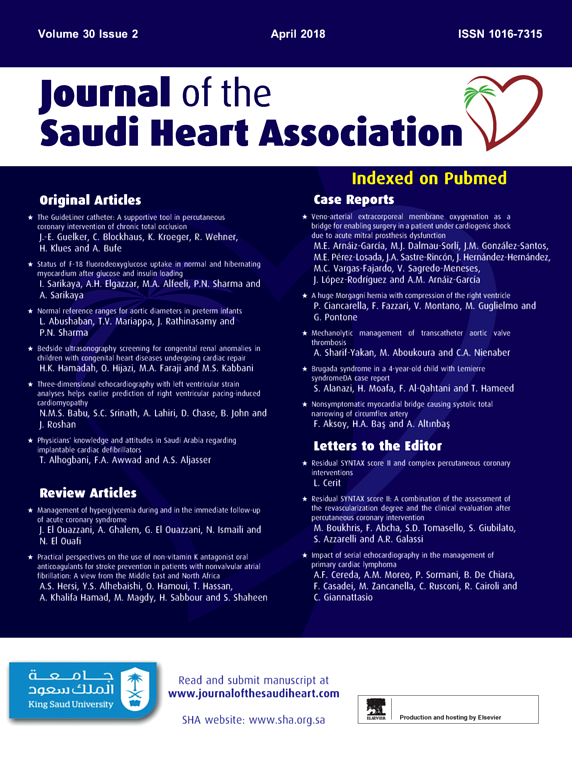 Journal of the Saudi Heart Association