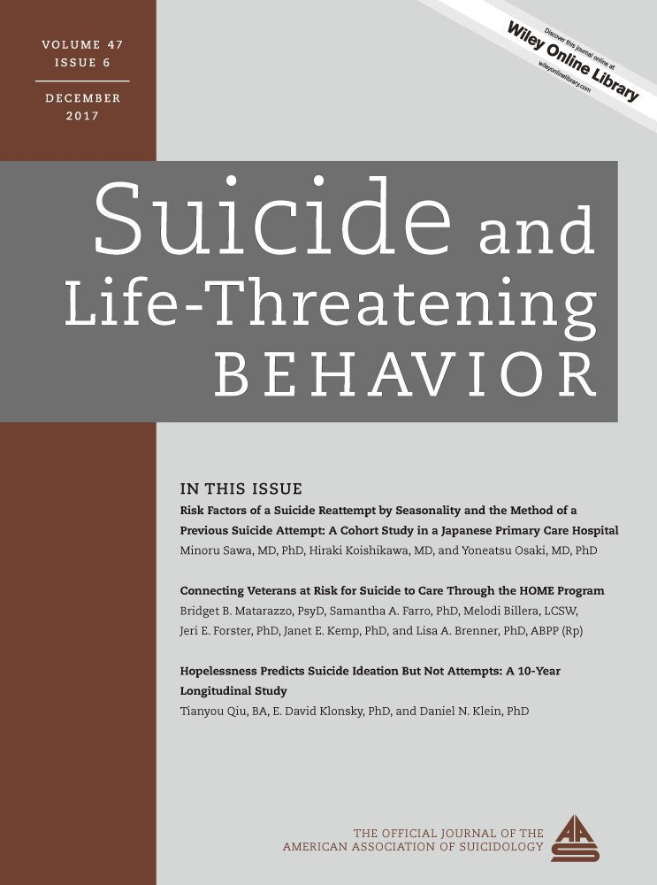 Suicide and Life-Threatening Behavior